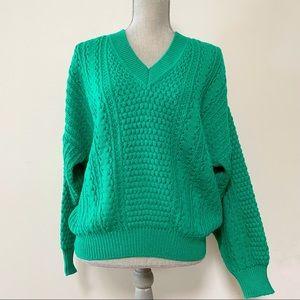 Vintage wool blend green sweater